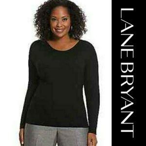 Lane Bryant | Black Boatneck Sweater